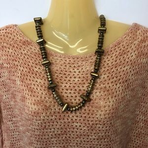 Jewelry - Bronze & Gold Colored Chunky Necklace